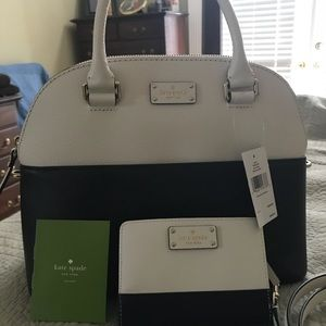 NWT Kate Spade Domed Satchel & Wallet